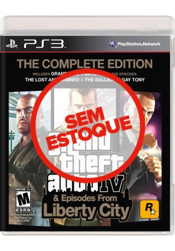 GTA IV (Grand Theft Auto): The Complete Edition - PS3